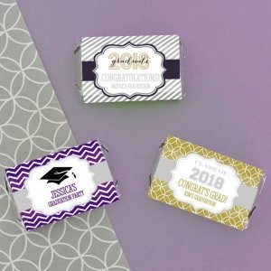 Personalized Graduation Mini Candy Bar Wrappers image