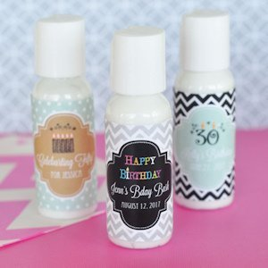 Personalized Birthday Lotion Favors image