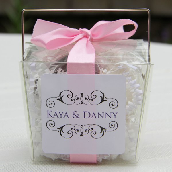 Wedding Favor Boxes For Cookies : Personalized Wedding Fortune Cookies Take Out Box Favor