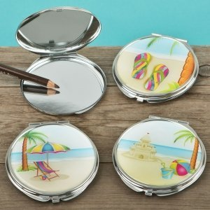 Fun Beach Scene Compact Mirror Favors (Set of 18) image