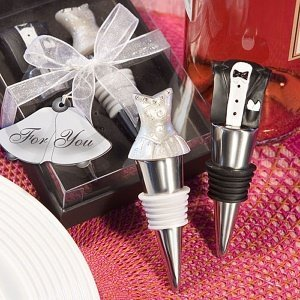 Bride and Groom Bottle Stopper Set image