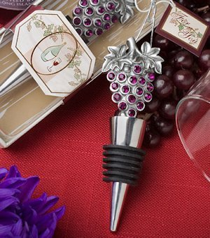Sparkling Grapes Wine Themed Wedding Favor Stoppers image