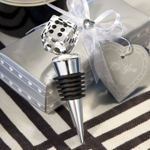 Choice Crystal Dice Bottle Stoppers image