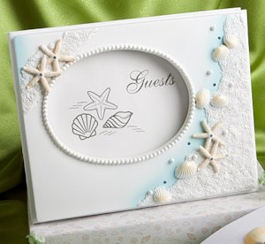 Shimmering Starfish Wedding Guest Book image