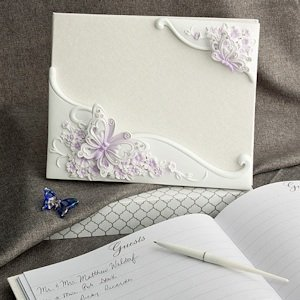 Beautiful Butterfly Wedding Guest Book image