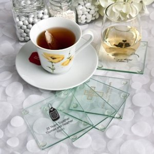 Personalized Special Occasion Glass Coasters image
