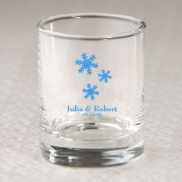 Custom Winter Votive Holder or Shot Glass Favor image
