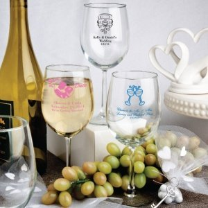 Personalized Wine Glass Party Favors (50 Designs) image