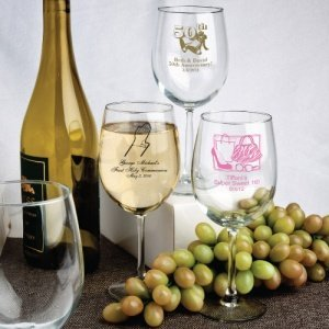 Personalized Special Occasion Wine Glasses image