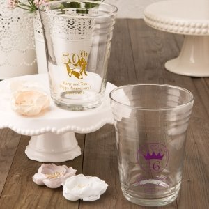 Personalized Special Occasion Glass Party Cup Favors image