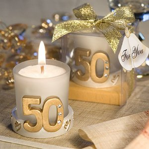 Gold Candle 50th Anniversary Favors image
