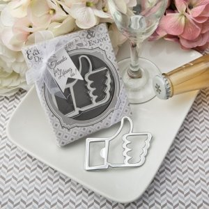 Like For Love' Thumbs Up Bottle Opener Favors image