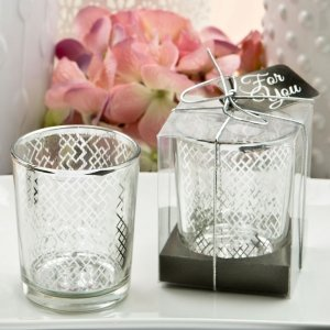 Magnificent Geometric Silver Mercury Candle Holder image