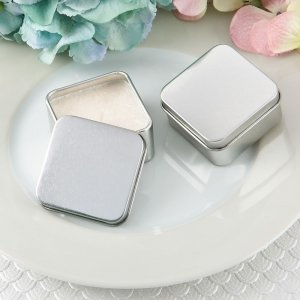 Perfectly Plain Collection Square Silver Metal Travel Candle image