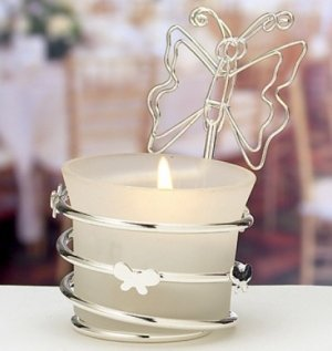 Butterfly Candle Place Card Holder image