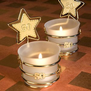 Gold Star 50th Celebration Candle Party Favors image