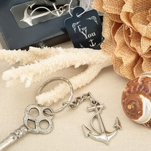 NauticalThemed Anchor Key Chain Favors image