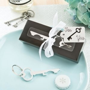 Silver Metal Key Bottle Opener Favors image