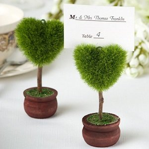 Heart Shaped Topiary Place Card Holder image