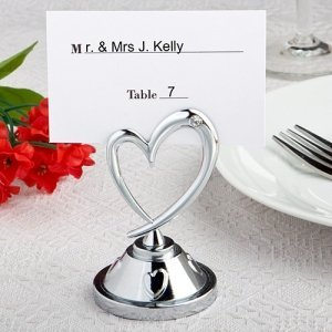 Distinctively Modern Heart Table Name Holders image