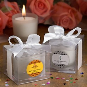 Anniversary Personalized Candle Favors (25th- 40th- 50th) image