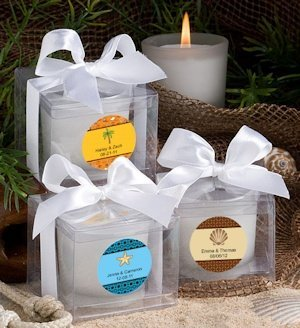 Personalized Beach Candle Favors image