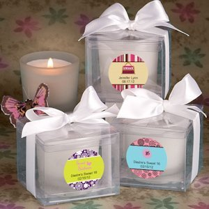 Sweet 16 Personalized Candle Favors image