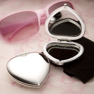 Heart Shaped Mirror Compact image