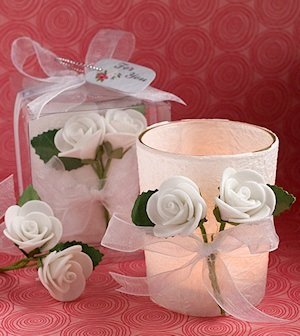White Rose Candle Favors image