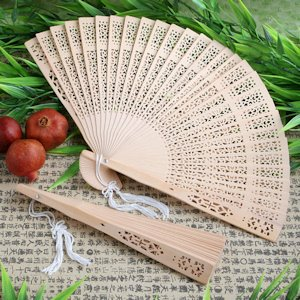 Wooden Fans - Sandalwood Hand Fan Favors image