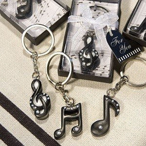 Musical Note Keychain Favors (3 Assorted Styles) image