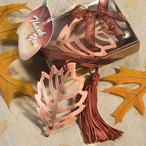 Copper Leaf Gift Boxed Bookmarks image