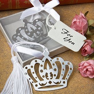 Regal Crown Princess Favor Bookmarks with Silk Tassel image