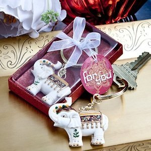 Majestic Elephant Key Chain Favors image