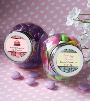 Personalized Sweet 16 Party Favor Jars (Many Designs) image