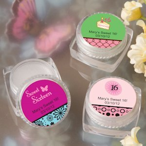 Personalized Lip Balm Sweet Fifteen Favors (or Sweet 16) image
