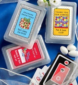 Custom Holiday Playing Card Favors image