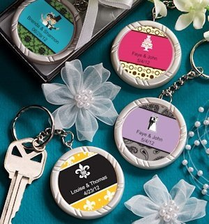 Personalized Wedding Key Ring Favors image