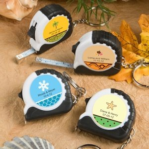 Key Chain and Measuring Tape Favors - Fall Designs image