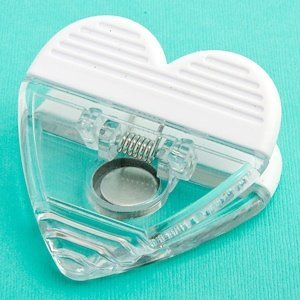 Perfectly Plain Collection Heart Shaped Memo Clip Favors image
