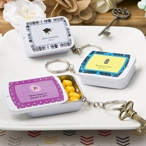 Personalized Expressions Mint Tin Key Ring Party Favors image