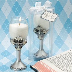 Cross Champagne Flute Candle Holders image