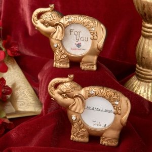 Good Luck Gold Indian Elephant Picture Frame image