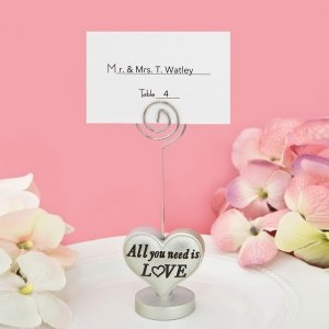 All You Need Is Love Heart Design Placecard Holder image