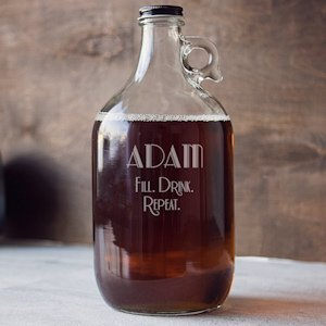 Fill. Drink. Repeat. Personalized Craft Beer Growler image