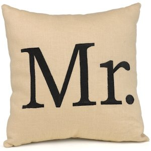 Mr. Linen Throw Pillow image