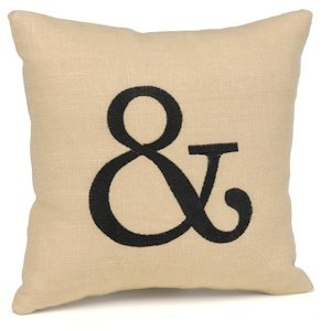 Ampersand Mini Linen Throw Pillow image