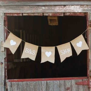 Personalized Jute Wedding Banner image