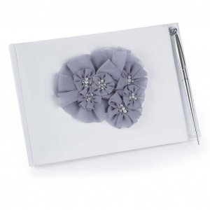 Glamorous Grey Guest Book with Pen Set image
