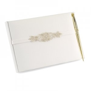 Classically Chic Guest Book with Pen image